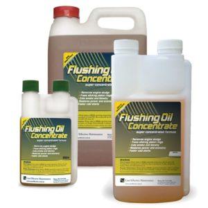 Flushing oil concentrate remove engine sludge
