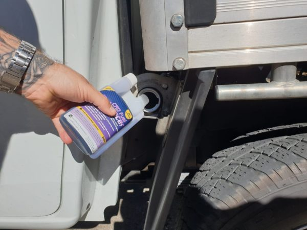 CRD Fuel Additive added to a vehicle