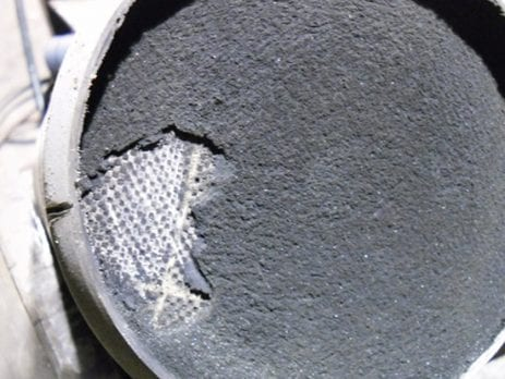 Diesel Particulate Filter blocked with soot, needs cleaning