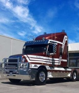 Freightliner truck with a Series 60 Engine, no exhaust smoke or blowby