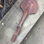 Clay Spade before being restored with Xtroll Rust Conqueror