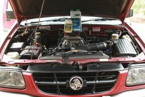 Holden Rodeo With CEM products sitting on the engine