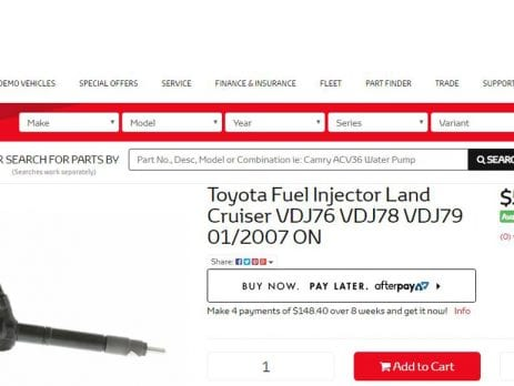 Toyota diesel injectors cleaned with CRD Fuel Enhancer