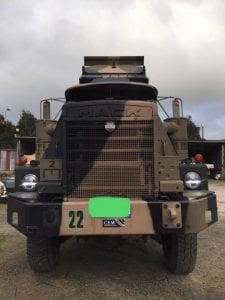 Mack Military vehicle using FTC Decarbonizer