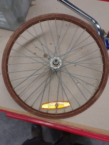 Heavily rusted bike rim